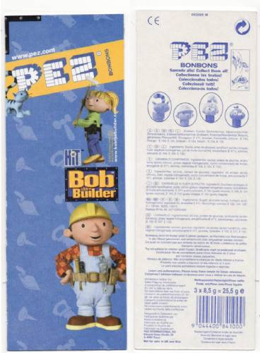 PEZ - Card MOC -Animated Movies and Series - Bob the Builder - Scoop