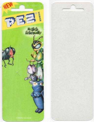 PEZ - Card MOC -Bugz - Fly - Olive Green Head