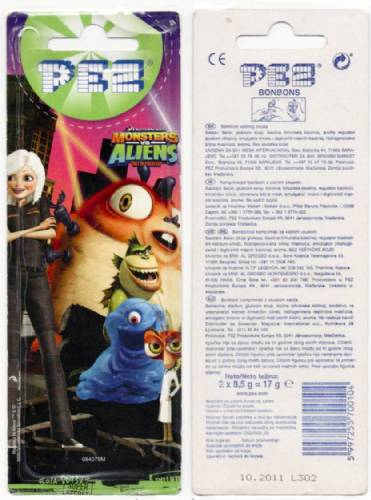 PEZ - Card MOC -Dreamworks Movies - Monsters vs Aliens - Missing Link