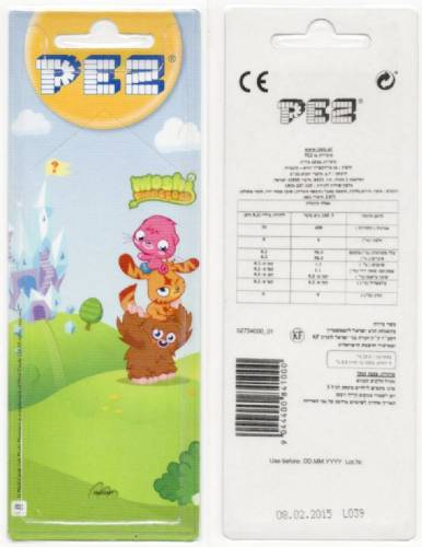 PEZ - Card MOC -Animated Movies and Series - Moshi Monsters - Furi