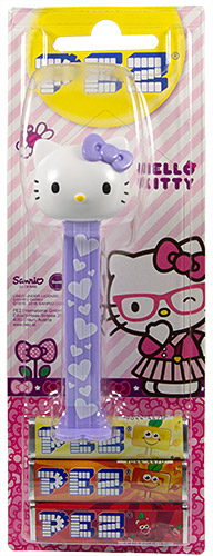 PEZ - Card MOC -Hello Kitty - Hello Kitty - White Head Pink Bow with pink dots