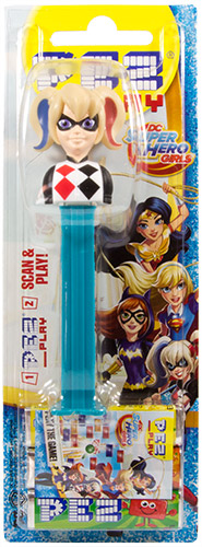 PEZ - Card MOC -Super Hero Girls - Harley Quinn - with play code