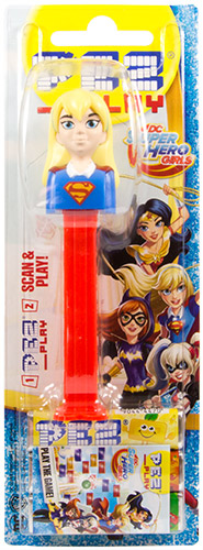 PEZ - Card MOC -Super Heroes - Super Hero Girls - Supergirl - with play code