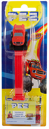 PEZ - Card MOC -Blaze and the Monster Machines - Blaze