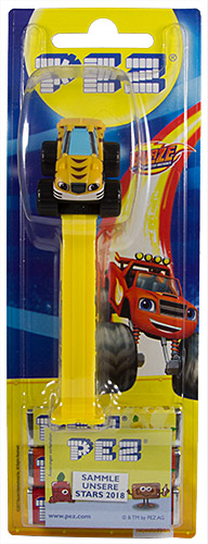 PEZ - Card MOC -Blaze and the Monster Machines - Stripes