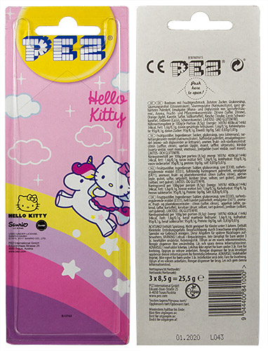 PEZ - Card MOC -Hello Kitty - Unicorn