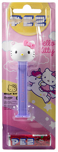 PEZ - Card MOC -Hello Kitty - Hello Kitty - pink bow, heart on ears