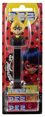 PEZ - Card MOC -Animated Movies and Series - Miraculous - Cat Noir
