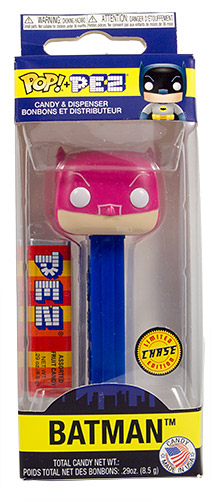 PEZ - Card MOC -Funko POP! - DC Comics - Batman (Chase) - Pink Mask