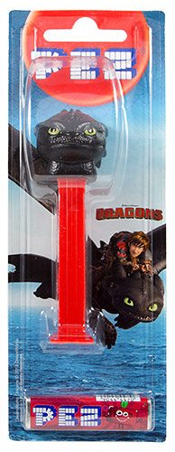 PEZ - Card MOC -Animated Movies and Series - Dragons - Toothless