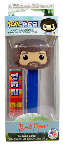 PEZ - Card MOC -TV - Bob Ross - blue stem