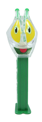 PEZ - Bugz - Crystal Collection - Grasshopper - Clear Crystal Head