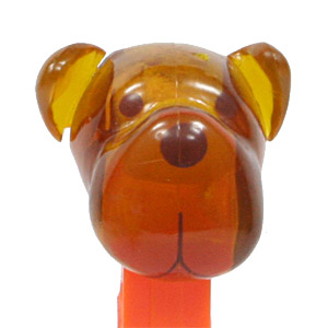 PEZ - AWL / SOS - Crystal - Barky Brown - Crystal Orange Head