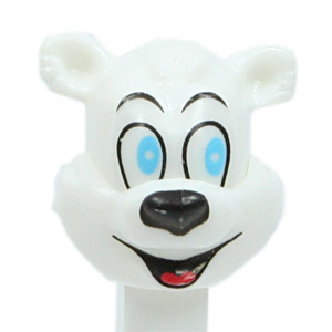 PEZ - Christmas - Polar Bear - White Head - A