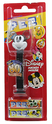 PEZ - 80th Anniversary - Mickey Mouse - Crystal Grey and white - H