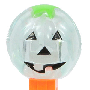 PEZ - Crystal Collection - Pumpkin - Light Green Crystal Head - C
