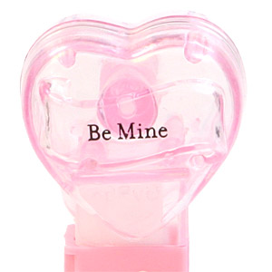 PEZ - Valentine - Be Mine - Nonitalic Black on Crystal Pink