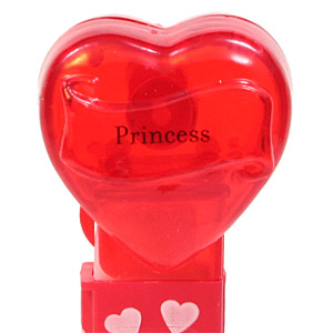 PEZ - Valentine - Princess - Nonitalic Black on Crystal Red