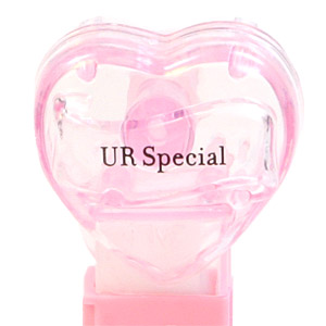 PEZ - Valentine - UR Special - Nonitalic Black on Crystal Pink
