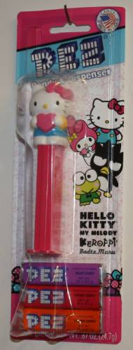 PEZ - Fullbody - Hello Kitty with Heart - White Kitty with pink bow and heart