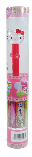 PEZ - Crystal Collection - Clear Crystal Head Red Bow
