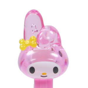 PEZ - Crystal Collection - My Melody - Clear Crystal Pink and White Head