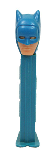 PEZ - Super Heroes - Batman - Blue Hood, pink face - A