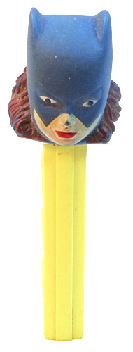 PEZ - Super Heroes - Soft-Heads - Batgirl - Soft-Head Blue