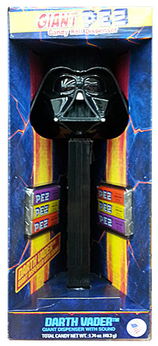PEZ - Giant PEZ - Star Wars - Darth Vader - Black Head - A