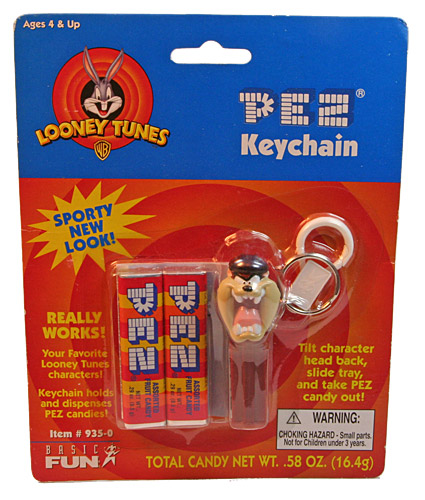 PEZ - Keychain - Cool Looney Tunes - Cycling Taz