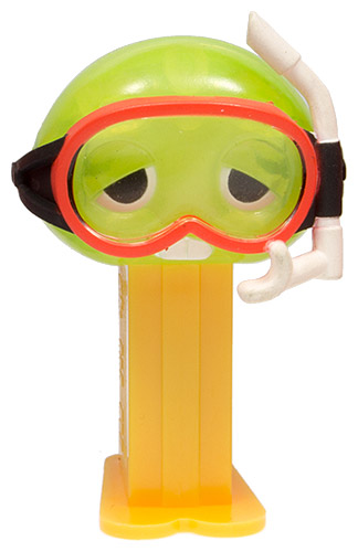 PEZ - Gachapin and Mukku 2 #22 - Gachapin Daipingu - Crystal Green Head with Divers Mask
