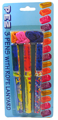 PEZ - American Distribution Company - PEZ 3 Pens with Rope Lanyards