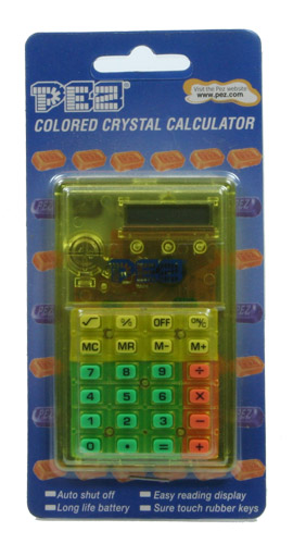 PEZ - Miscellaneous (Non-Dispenser) - Calculator - Colored Crystal Calculator - Green