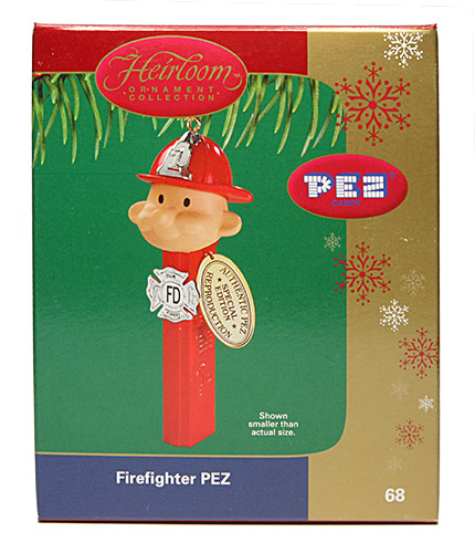PEZ - Ornaments - Carlton Cards - Firefighter