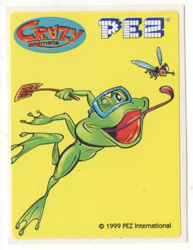PEZ - Stickers - Crazy Animals - Frog Catching Fly