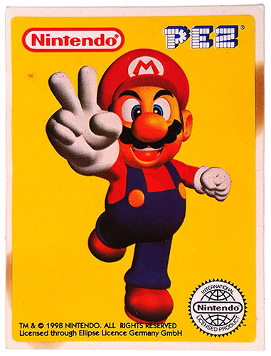 PEZ - Stickers - Nintendo - Super Mario