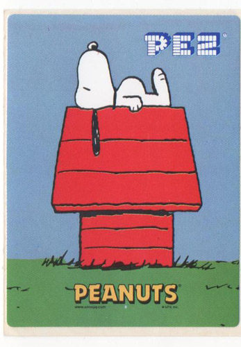 PEZ - Stickers - Peanuts - Snoopy on Dog House