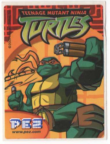 PEZ - Stickers - Teenage Mutant Ninja Turtles - Michelangelo
