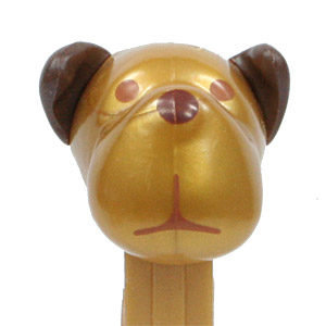 PEZ - Charity - AWL / SOS - SilverGold - Barky Brown - Gold Head