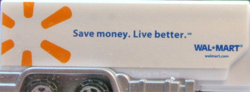 momopez - advertising walmart save money - tanker - white cab  white trailer