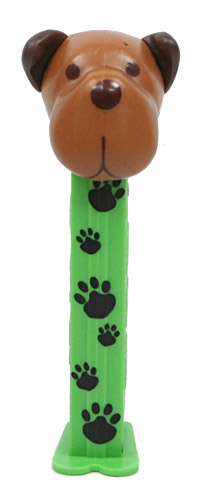 PEZ - Charity - AWL / SOS - Paws - Barky Brown - Brown head
