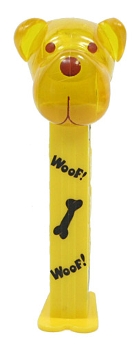 PEZ - AWL / SOS - Woof - Barky Brown - Crystal Yellow Head