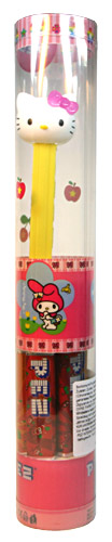 PEZ - Hello Kitty - Hello Kitty - White Head Pink Crystal Bow