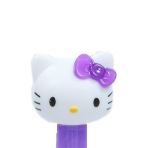 PEZ - Hello Kitty - Hello Kitty - White Head Purple Crystal Bow