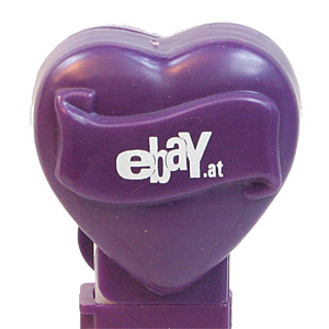 PEZ - Hearts - Ebay - ebay.at Heart - Dark Purple Heart