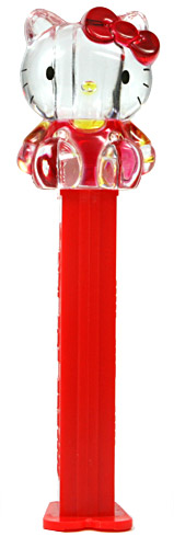PEZ - Fullbody - Hello Kitty in Overalls - Crystal, red sleeves