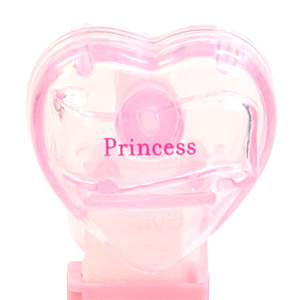 PEZ - Valentine - Princess - Nonitalic Pink on Crystal Pink