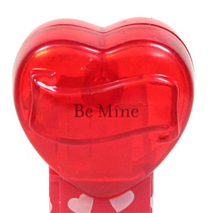 PEZ - Valentine - 2009 short - Be Mine - Nonitalic Black on Crystal Red (c) 2008