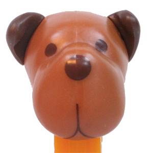 PEZ - Charity - AWL / SOS - Dog House - Barky Brown - Brown head
