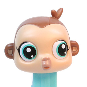 PEZ - Movie and Series Characters - Littlest Pet Shop - Monkey
